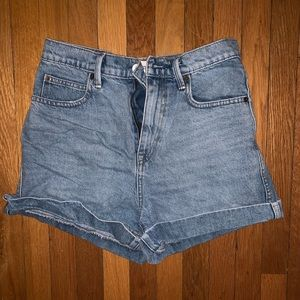 Gap denim mom shorts